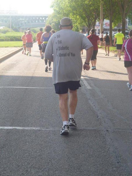 50. Толстый. Диабетик. Впереди тебя