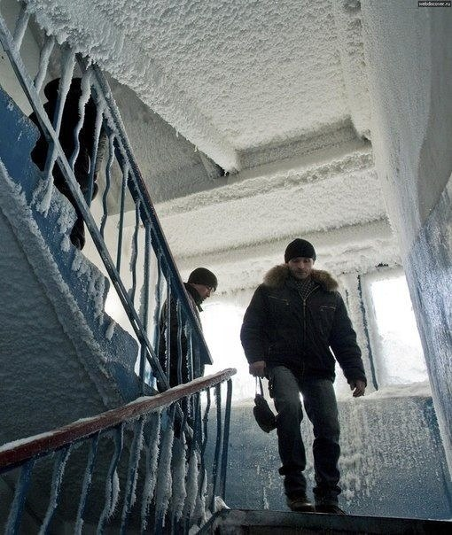 -59 градусов в Казахстане, деревня Орловка.