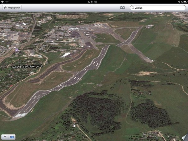 Аэропорт Вильнюса по версии Apple