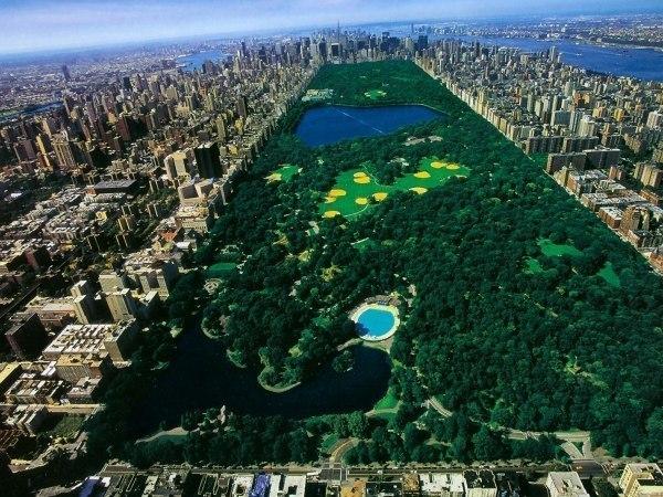 Центральный парк в Нью-Йорке - оазис среди бетонных монуме