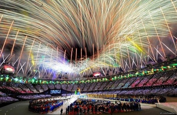 Церемония закрытия олимпийских игр.