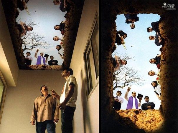 Дизайн потолка в курилке
