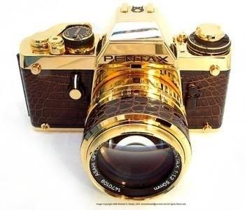 Фотоаппарат из чистого золота PENTAX LX
