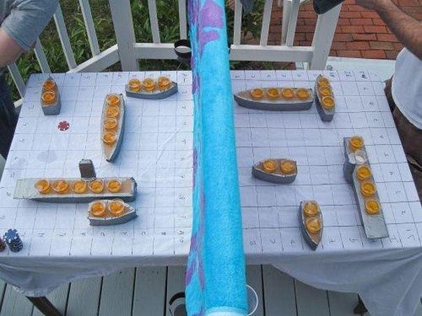 Интересный вариант игры в Морской бой.