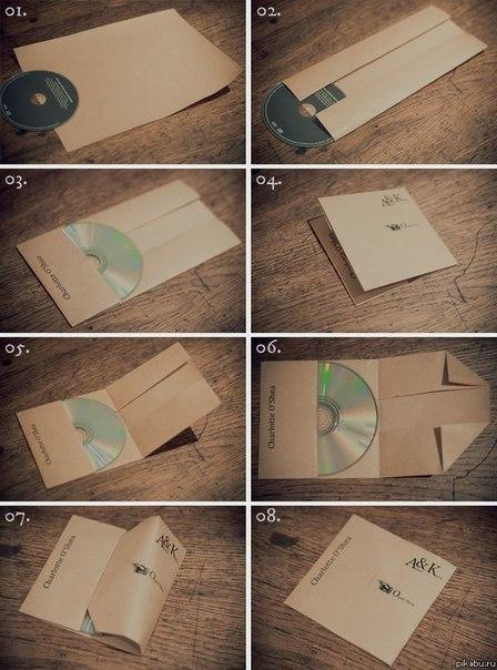 Как упаковать диск в лист А4.