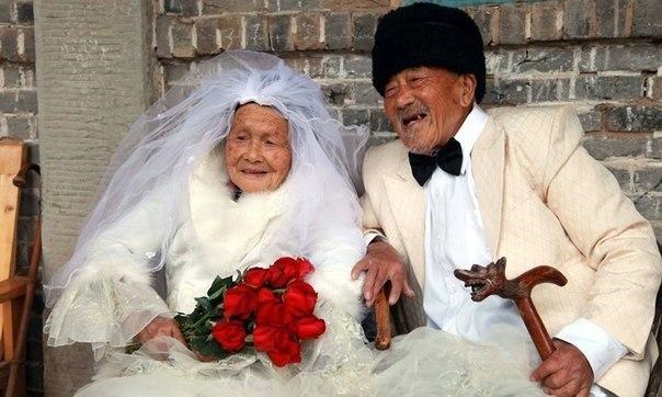 Китайская пара прожила вместе более 88 лет и в конце-концов