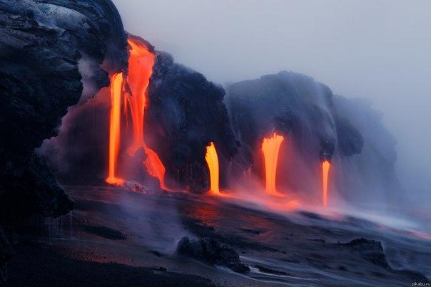Когда лава встречается с водой
