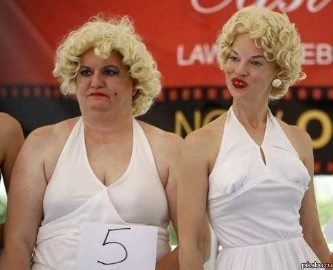 Конкурс двойников Мэрилин Монро. Как будто сама Мэрилин со