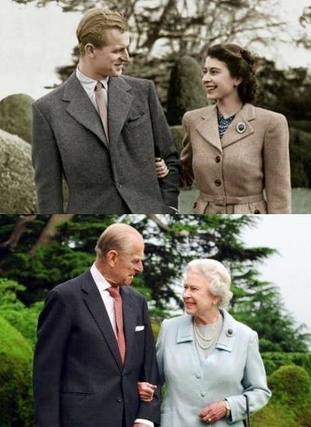 Королева Елизавета и принц Филипп, после 65 лет брака.