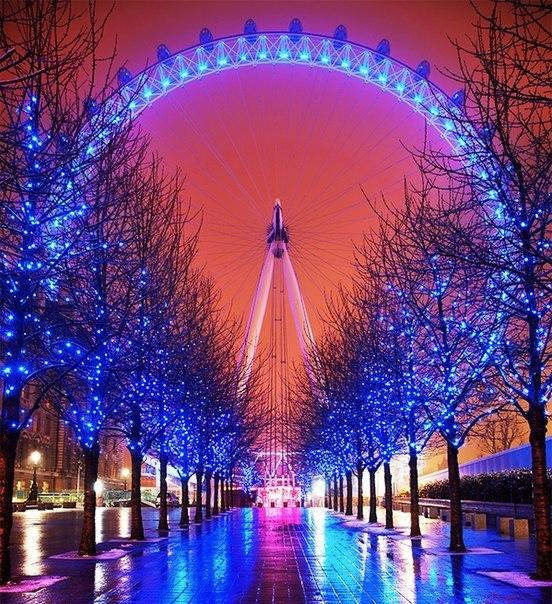Лондонский глаз — одно из крупнейших колёс обозрения в ми