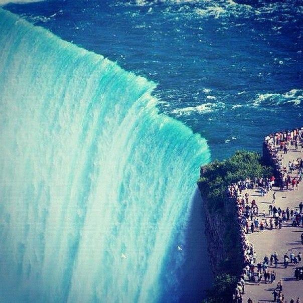 Масштабы Ниагарского водопада