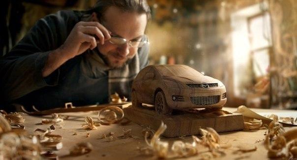 Mazda из дерева.