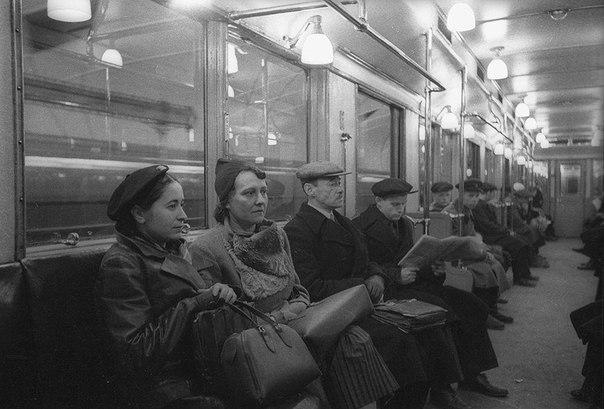 Метро, Москва. РСФСР. СССР. 1950-е