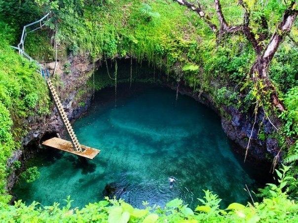 Необычный бассейн на острове Уполу, Латофага, Самоа