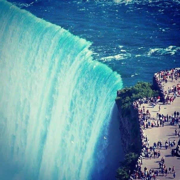 Ниагарский водопад и его масштабы.