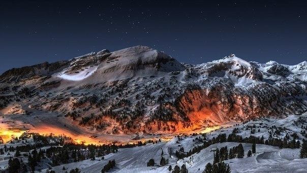 Ночь в альпах