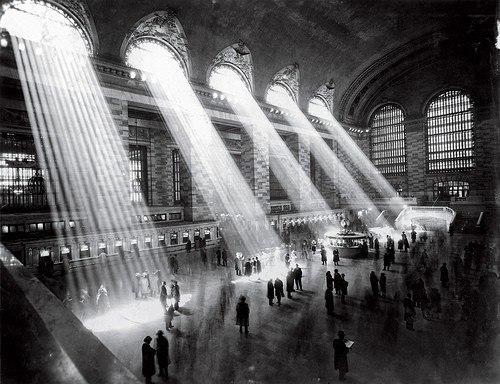 Нью-Йорк, Grand Central Terminal, 1929 год. Сейчас свет не проникает так,