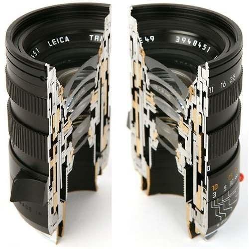 Объектив фотокамеры в разрезе.