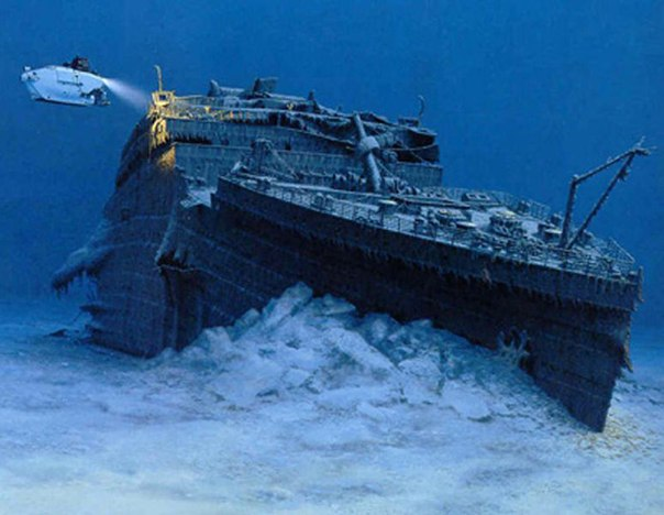 Один из подводных снимков Титаника.