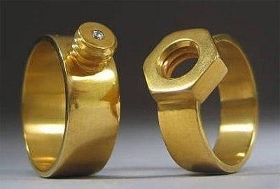 Оригинальные обручальные кольца.