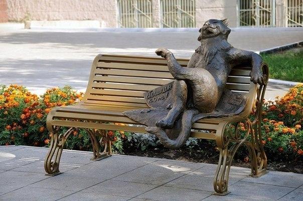 Памятник Йошкиному котуЙошкар-Ола, Россия