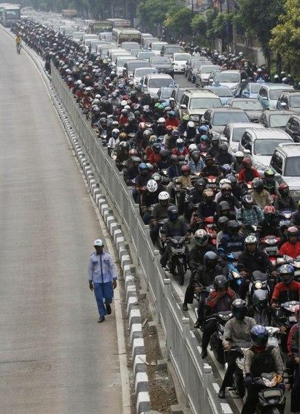 Пробка в Китае.