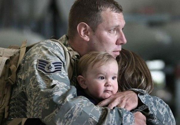 Прощание солдата, уходящего на войну