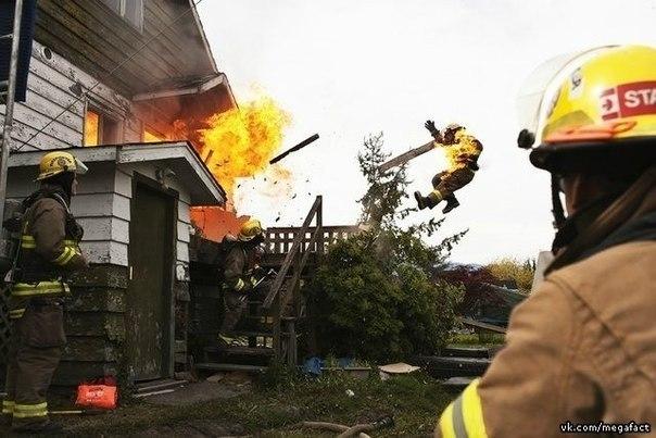 Работа пожарного.