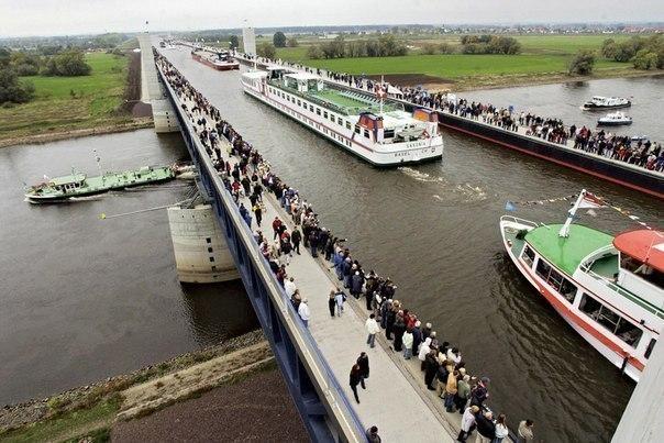 Река над рекой: Магдебургский водный мост.