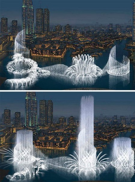 Самый большой и самый дорогой фонтан в мире находится в Ду