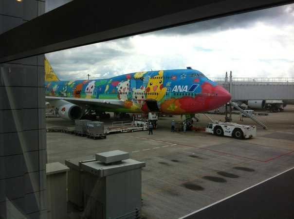 Самолет в Японии.