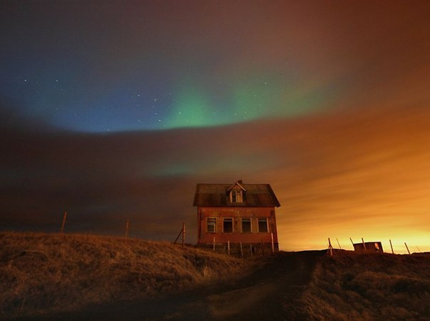 Северное сияние, Исландия.