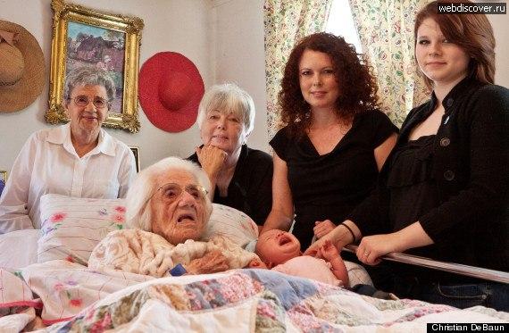 Шесть поколений 111 лет — 88 лет — 70 лет — 39 лет — 16 лет — 7 не