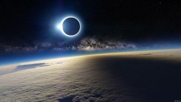 Солнечное затмение с борта международной космической ста