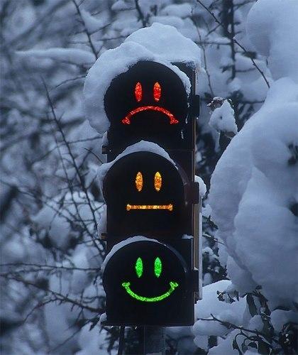 Веселые светофоры в Швейцарии