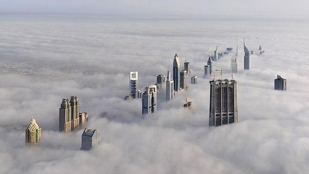 Вид с самого высокого небоскреба в мире «Бурж Халифа», Дуб