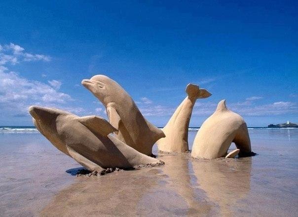 Восхитительные песчаные фигуры!
