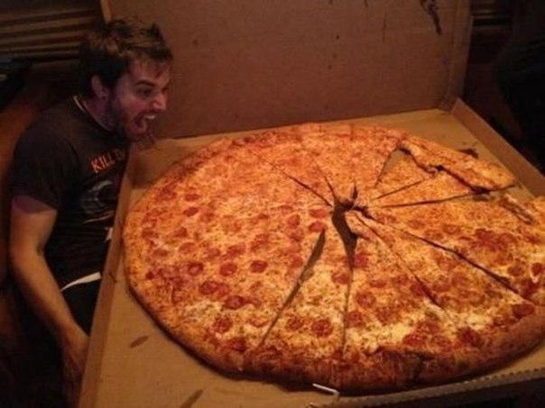 Вот это пицца!