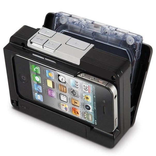 Устройство для перезаписи старых кассетных записей в iPhone.