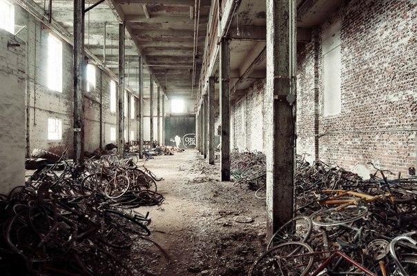 Заброшенная мануфактура производящая велосипеды