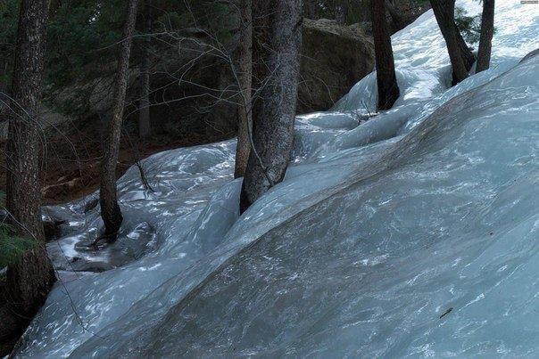 Замерзший поток.