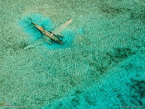 Затонувший самолёт, Багамы