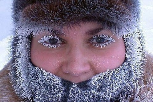 Зимний макияж)